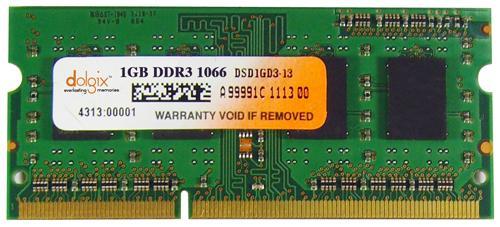 1GB ddr3 1066MHz so dimm